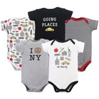 Hudson Baby® Size 12-18M 5-Pack New York City Bodysuits