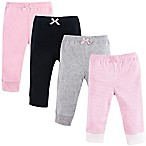 Luvable Friends® Size 0-3M 4-Pack Tapered Ankle Pants in Pink