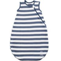 Woolino® Size 0-6M Striped Organic Cotton Wearable Blanket in Navy