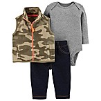 carter's® Size 3M 3-Piece Camo Vest, Bodysuit, and Pant Set
