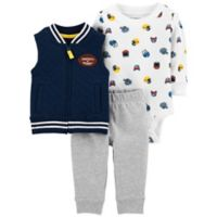 carter's® Newborn 3-Piece Football Vest, Bodysuit, and Pant Set in Blue