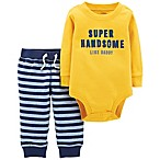 carter's® Size 9M 2-Piece Super Handsome Bodysuit and Pant Set in Yellow