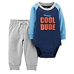 carter's® Size 3M 2-Piece Mommy's Cool Dude Bodysuit and Pant Set in Blue