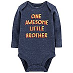 carter's® Size 3M Awesome Little Brother Bodysuit in Blue