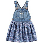 OshKosh B'gosh® Size 9-12M Denim and Floral Poplin Skortall
