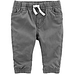 OshKosh B'gosh® Size 3-6M Woven Pull-On Pant in Grey
