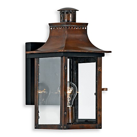 Buy Quoizel Chalmers 1 Light Outdoor Light Fixture In Aged Copper From Bed Bath Beyond