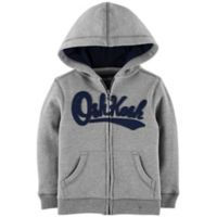 OshKosh B'gosh® Size 18-24M Zip-Front Logo Hoodie in Grey