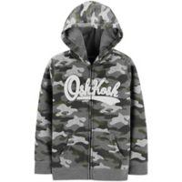 OshKosh B'gosh® Size 6-9M Zip-Front Logo Hoodie in Camo