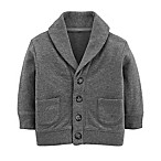 OshKosh B'gosh® Size 3-6M French Terry Cardigan in Charcoal