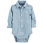 OshKosh B'Gosh® 0-3M Chambray Bodysuit in Blue