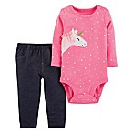 carter's® Size 6M 2-Piece Unicorn Bodysuit and Pant Set in Pink
