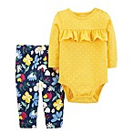 carter's® Size 3M 2-Piece Ruffle Bodysuit and Pant Set in Yellow