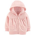 carter's® Size 3M Fleece-Lined Hoodie in Pink