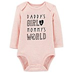 carter's® Size 6M World Long Sleeve Bodysuit in Pink
