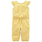 carter's® Size 3M Floral Flutter Sleeve Romper in Yellow