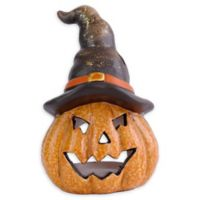 Lighted Jack-O-Lantern 7-Inch Halloween Decoration