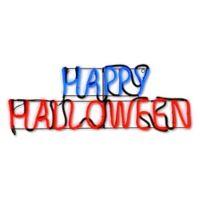 "National Tree Company® 30-Inch LED Lights Strip ""Happy Halloween"" Sign"