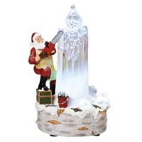 12.5-Inch Musical LED Santa Chiseling Figure