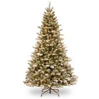 National Tree Company 4.5-Foot Pre-Lit Flocked Sheffield Spruce Christmas Tree