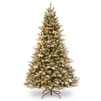 National Tree Company 4.5-Foot Pre-Lit Flocked Sheffield Spruce Christmas Tree