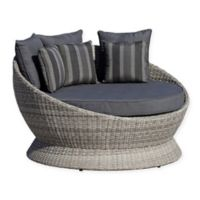 OVE® Brisbane Patio Canopy Daybed in Dark Grey