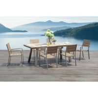 Pompano 7-Piece Outdoor Dining Set with Integrated Ice Buckets
