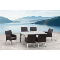 OVE Decors Montreal 7-Piece Indoor/Outdoor Dining Set in Brown
