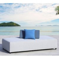 OVE Douville Outdoor Daybed in Light Grey/Blue