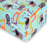 Glenna Jean Jungle Babies Fitted Mini Crib Sheet