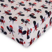 Glenna Jean Beaver Buddies Fitted Mini Crib Sheet