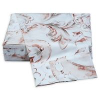 La Rochelle Autumn Flower King Sheet Set in White/Red