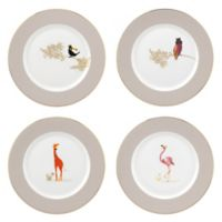 Portmeirion® Piccadilly Bird/Giraffe Dessert Plates (Set of 4)