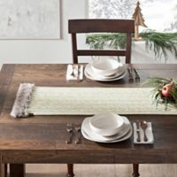 UGG® 90-Inch Cable Knit Table Runner in Snow