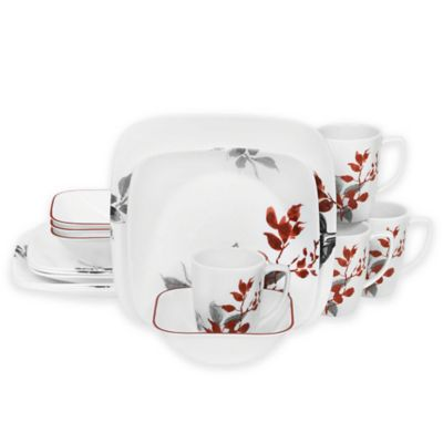 Corelle® Kyoto Leaves 16-Piece Dinnerware Set  sc 1 st  Bed Bath u0026 Beyond & Buy Microwave Safe Dinnerware from Bed Bath u0026 Beyond