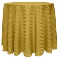 Poly Stripe 60-Inch Round Tablecloth in Gold