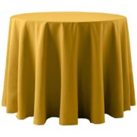 60-Inch Round Spun Polyester Tablecloth in Gold
