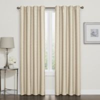 Darcy 63-Inch Rod Pocket/Back Tab 100% Blackout Window Curtain Panel in Linen