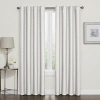 Darcy 84-Inch Rod Pocket/Back Tab 100% Blackout Window Curtain Panel in White