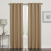 Darcy 84-Inch Rod Pocket/Back Tab 100% Blackout Window Curtain Panel in Gold