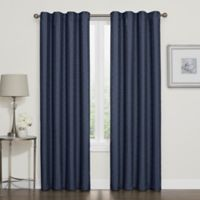 Darcy 63-Inch Rod Pocket/Back Tab 100% Blackout Window Curtain Panel in Navy