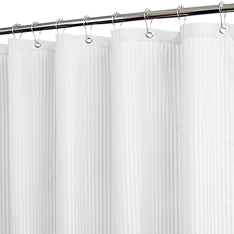 Park B. Smith® Satin Stripe White 72-Inch x 72-Inch Watershed® Shower Curtain