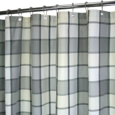 Checkered Shower Curtain - Curtains Design Gallery