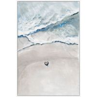 Marmont Hill Somewhere at the Beach 12-Inch x 18-Inch Framed Wall Art