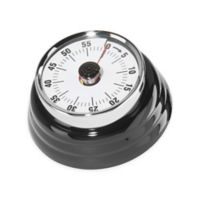 Oggi™ Retro Stainless Steel Kitchen Timer in Black