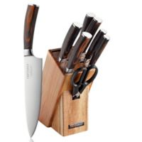 Top Chef® Dynasty 9-Piece Knife Block Set in Brown