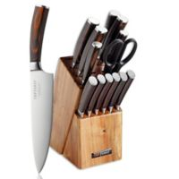 Top Chef® Dynasty 15-Piece Knife Block Set in Brown