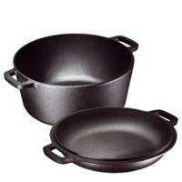 Bruntmor™ Nonstick 5 qt. 2-in-1 Cast Iron Dutch Oven