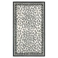 Safavieh Chelsea Wool 2-Foot 9-Inch x 4-Foot 9-Inch Area Rug in White and Black