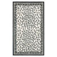 Safavieh Chelsea Wool 3-Foot 9-Inch x 4-Foot 9-Inch-Foot Rug in White and Black